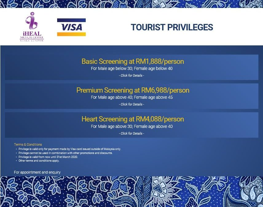 VISA Tourist Screening Packages